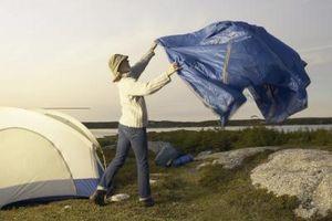 Como colocar um Tarp Sombra / Chuva para Camping
