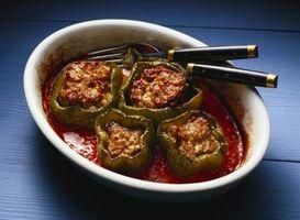 Como congelar pimentas verdes para Stuffed Peppers