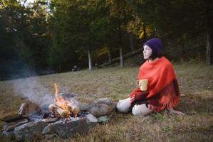 Como fazer um anel de fogo Rocha Natural