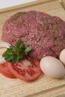 Como sabor de carne Hamburger Por isso, Tastes Good Com Arroz