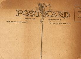 Como enviar cartões postais de países estrangeiros