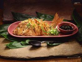 Como cozinhar peixe estilo asiático em um forno