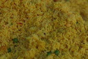 Como Reaquecimento um prato de arroz
