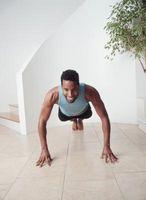 Como se cortado com exercícios de peso corporal