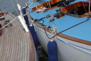 Como reparar quebrados plástico Fenders barco