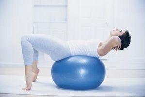 Como firme e seu corpo um exercício com bola