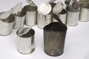 Como reciclar latas de restaurantes