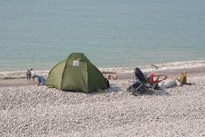 Praia Instruções Tenda