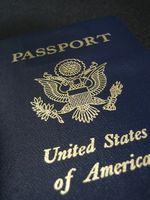 Especificações para um passaporte dos EUA Foto