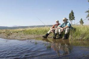 Camping e pesca em Brazos River, Texas