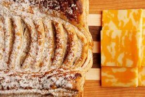 Componentes químicos de pão branco