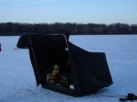 Como construir uma cabana de pesca no gelo