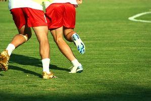 Treinamento de velocidade para jogadores de futebol