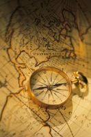Como usar um mapa de declinação