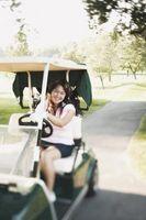 Rebocando um carrinho de golfe