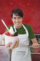 É não-Fat Frozen Yogurt saudável enquanto se exercita?