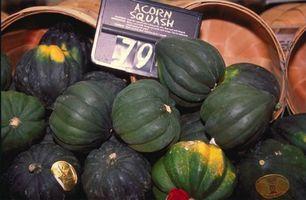 Qual é o valor nutricional de um Acorn Squash?