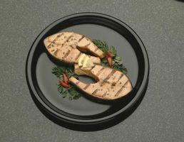 É cozinhar ou grelhar melhor para o peixe?