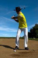 Dicas de golfe para não deslizar a perna de trás