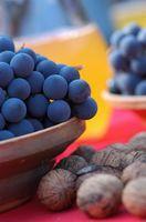 Vinhos vermelho feito das uvas Concord