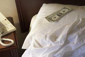 Como deixar uma dica para uma dona de casa em um Hotel