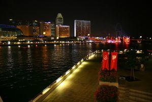 Cruzeiros de luxo partem de Singapura