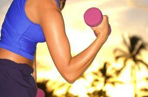 Contração muscular depois de um treino