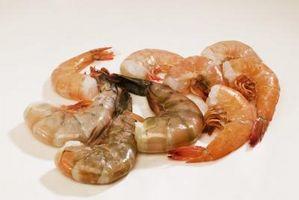 O que são os tamanhos maiores de camarão?