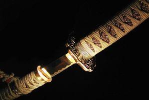 Oito tradicional espada Styles lutando por um Samurai