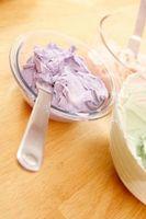 Como fazer uma cor de caramelo com cobertura branca