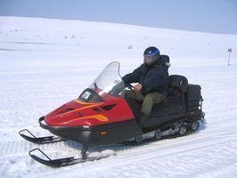 Como engrenagem um Snowmobile