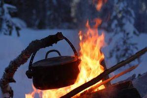 Como cozinhar um Meatloaf sobre uma fogueira