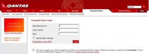 Como saber Quantos pontos você tem no programa de passageiro frequente Qantas