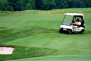 Os principais componentes de um campo de golfe Cinco