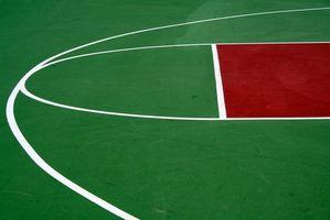 A História de quadras de basquete