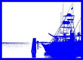 Costa leste de pesca do atum