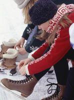 Como não rola seus tornozelos ao patinar