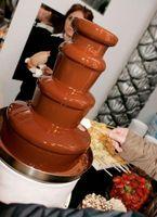 Que tipo de coisas Devo colocar para fora com uma fonte de chocolate?