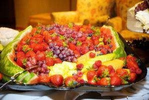 Como exibir uma bandeja de frutas