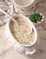 Qual é a diferença entre Chowder & desnatado Soup?