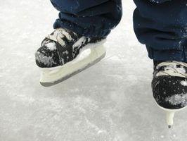 Como faço para parar com patins de hóquei?