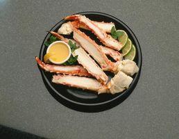 Comer caranguejo Pernas