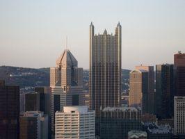 A temperatura média exterior em Pittsburgh, Pensilvânia