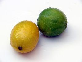 Como congelar limões & Limes