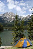 Campgrounds tenda no Alasca