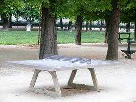Como reparar uma superfície tabela de pingue-pongue