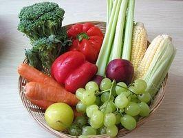 Tipos de Frutas e Vegetais