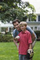 Como ensinar um velho de sete anos a um campo de beisebol