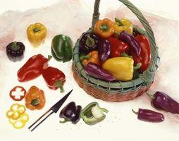 Como manter pimentas verdes