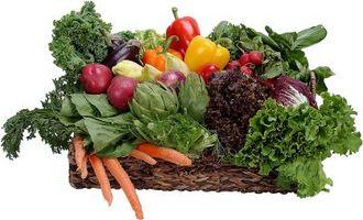 Quais são os tipos de frutas e vegetais?